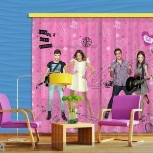 Ag Design Puolipimentävä Fotoverho Disney Violetta 280x245 Cm