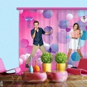 Ag Design Puolipimentävä Fotoverho Disney Violetta Sings 180x160 Cm