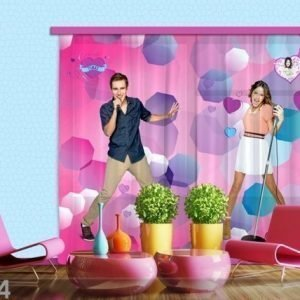 Ag Design Puolipimentävä Fotoverho Disney Violetta Sings 280x245 Cm