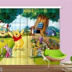Ag Design Puolipimentävä Fotoverho Disney Winnie The Pooh 280x245 Cm