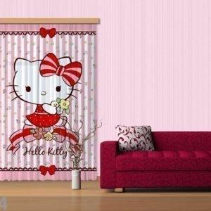 Ag Design Puolipimentävä Fotoverho Hello Kitty 140x245 Cm