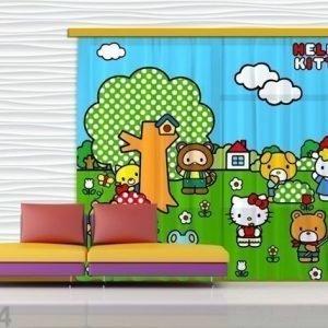 Ag Design Puolipimentävä Fotoverho Hello Kitty 280x245 Cm