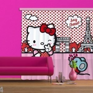 Ag Design Puolipimentävä Fotoverho Hello Kitty With Mouse 180x160 Cm