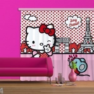 Ag Design Puolipimentävä Fotoverho Hello Kitty With Mouse 280x245 Cm