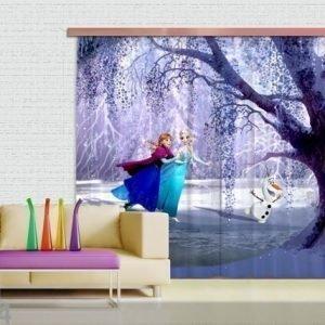 Ag Design Puolipimentävä Fotoverho Ice Kingdom 280x245 Cm