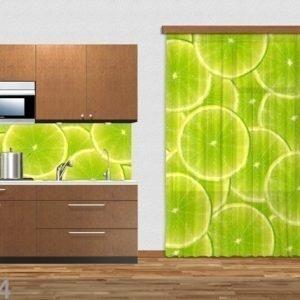 Ag Design Puolipimentävä Fotoverho Limes 140x245 Cm