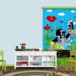 Ag Design Puolipimentävä Fotoverho Mole And Mirror 140x245 Cm
