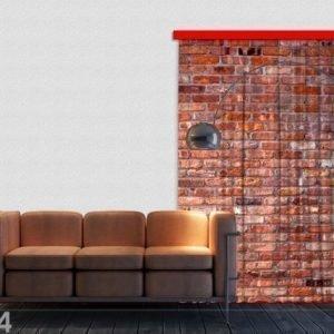 Ag Design Puolipimentävä Fotoverho Red Bricks 140x245 Cm