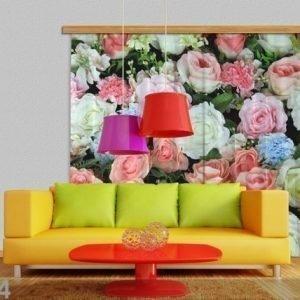 Ag Design Puolipimentävä Fotoverho Rose 280x245 Cm