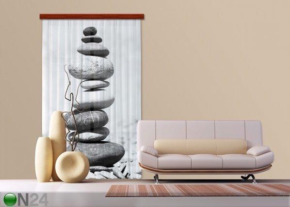 Ag Design Puolipimentävä Fotoverho Stones 140x245 Cm