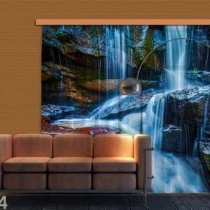 Ag Design Puolipimentävä Fotoverho Waterfall 280x245 Cm