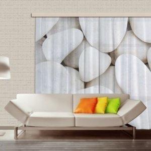 Ag Design Puolipimentävä Fotoverho White Stones 280x245 Cm