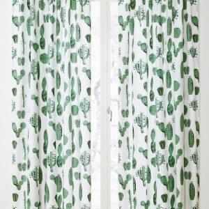 Cactus Piilolenkkiverhot 2-Pakkaus Valkoinen
