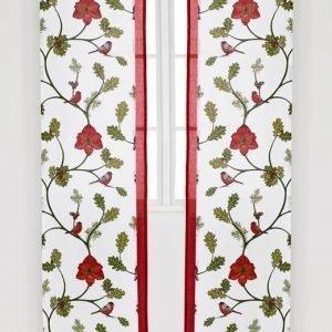 Cellbes Paneeliverhot 4-Pakkaus Talvenvalkoinen Monivärinen Punainen