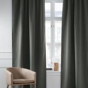 Ellos Fredrika Poimutusnauhaverho Pimentävä Vihreä 1 Kpl
