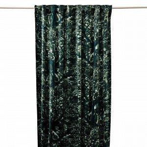 Hemtex Bergek Curtain W Multi Tape Verho Tummanvihreä 135x240 Cm