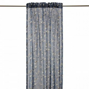 Hemtex Colleen Curtain W Head And Cha Verho Antiikinsininen 140x240 Cm
