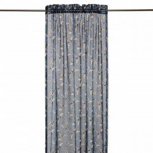 Hemtex Colleen Curtain W Head And Cha Verho Antiikinsininen 140x240 Cm