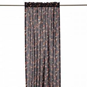 Hemtex Colleen Curtain W Head And Cha Verho Tummanharmaa 140x240 Cm