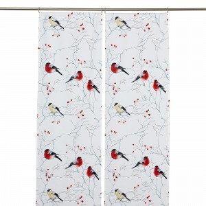 Hemtex Fabian Narrow Panels Paneeliverho Joulunpunainen 45x240 Cm