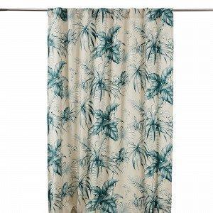 Hemtex Kampala Curtain W Hidden Loops Sivuverho Sinivihreä 140x240 Cm
