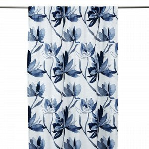 Hemtex Lotus Curtain With Hidden Loop Verho Sininen 140x240 Cm