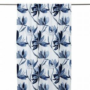 Hemtex Lotus Curtain With Hidden Loop Verho Sininen 140x240 Cm