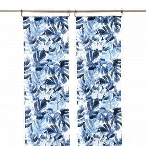 Hemtex Monstera Paneeliverho Sininen 45x240 Cm