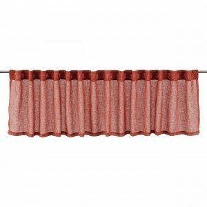 Hemtex Otto Plain Loopes Pelmet Kappaverho Englanninpunainen 250x50 Cm