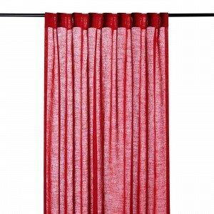 Hemtex Otto Plain Piilolenkkiverho Joulunpunainen 140x240 Cm