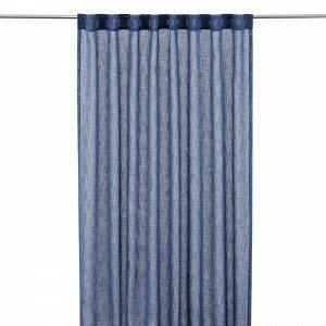 Hemtex Otto Tape Curtain Piilolenkkiverho Antiikinsininen 140x300 Cm