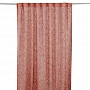 Hemtex Otto Tape Curtain Piilolenkkiverho Englanninpunainen 140x300 Cm