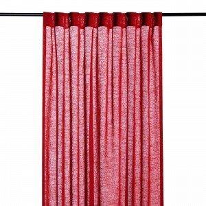 Hemtex Otto Tape Curtain Piilolenkkiverho Joulunpunainen 140x300 Cm