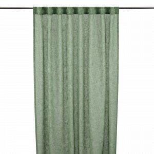 Hemtex Otto Tape Curtain Piilolenkkiverho Ruosteenpunainen 140x300 Cm