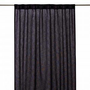 Hemtex Otto Tape Curtain Piilolenkkiverho Tummanharmaa 140x300 Cm