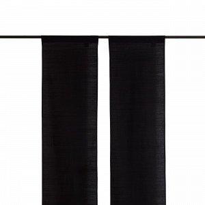 Hemtex Plain Slub Paneeliverho Musta 45x240 Cm