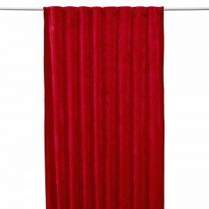 Hemtex Sammy Samettiverho Tummanpunainen 130x240 Cm
