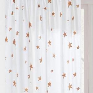 Jotex Angel Star Sivuverho Valkoinen 2-Pakkaus