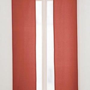 Jotex Colour Paneeliverhot Punainen 2-Pakkaus