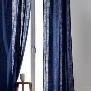 Jotex Hilda Sivuverhot Sininen 2-Pakkaus