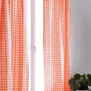 Jotex Klara Sivuverhot Oranssi 2-Pakkaus