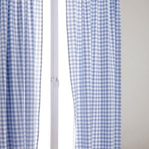 Jotex Klara Sivuverhot Sininen 2-Pakkaus