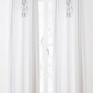 Jotex Lucille Piilolenkkiverhot Valkoinen 2-Pakkaus