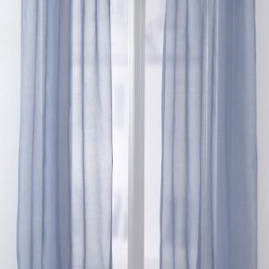 Jotex Sally Solmimisnauhaverhot Sininen 2-Pakkaus