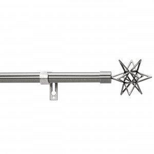 Kirsch Star Verhotankosetti Tummanharmaa 120-210 Cm