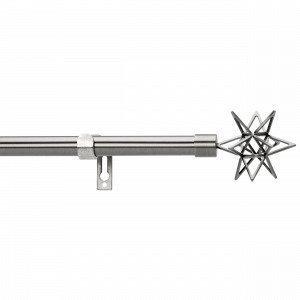 Kirsch Star Verhotankosetti Tummanharmaa 210-380 Cm