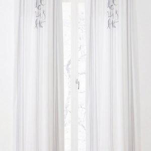 Lucille Piilolenkkiverhot 2-Pakkaus Valkoinen