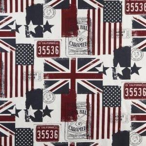 Old Flags Kangas 5 Metrin Valmispala Valkoinen