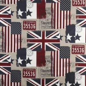 Old Flags Kangas / M Beige