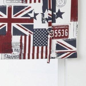 Old Flags Laskosverho Kuviollinen Valkoinen